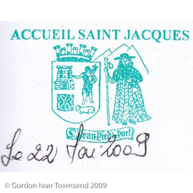 Pilgrim's Stamp: <<ACCUEIL SAINT JACQUES - S. Jean Pied de Port>> Pilgrim's Office - SJPP - Day 0